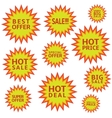 hot sale labels vector image vector image