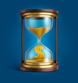 hourglass with flowing sand and dollar currency vector image vector image