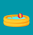 inflatable pool flat design vector image vector image