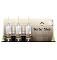 interior background of vintage barber shop vector image