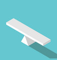 isometric empty seesaw scale vector image vector image