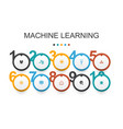 machine learning infographic design templatedata vector image vector image