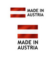 made in austria label tag template vector image vector image