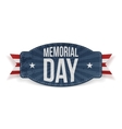 Memorial Day festive Label with Text vector image vector image