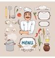 Menu for russian cuisine vector image