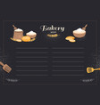 Menu template cafe bakery