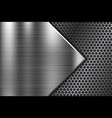 metal background with perforated element vector image