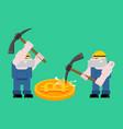mining bitcoin pool concept minir extraction vector image vector image