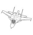 modern russian jet bomber aircraft vector image
