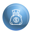 money bag icon outline style vector image vector image