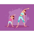 Mother and daughter engage in fitness vector image