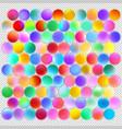 multicolored balls for design vector image