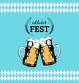 oktoberfest flyer beer festival poster vector image