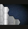 pattern metal plates on blue denim fabric vector image vector image