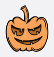 pumpkin doodle color icon drawing sketch hand vector image