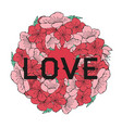 ramki pink sakura vector image vector image