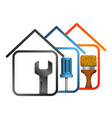 repair of home symbol design vector image