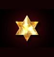 sacred geometry 3d solid gold merkaba logo icon
