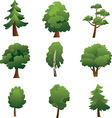 set trees - summer vector image vector image