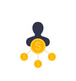 shareholder icon in flat style vector image vector image