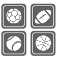 simple sport icons vector image vector image