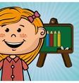 student board cartoon color vector image