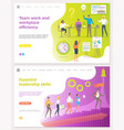 teamwork and workplace efficiency startup set vector image vector image