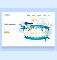 teeth whitening website landing page design vector image vector image