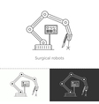 Thin line concept icon Surgical robots vector image