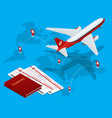 travel and tourism background buying or booking vector image vector image