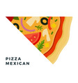triangular mexican pizza piece flat icon isolated vector image vector image