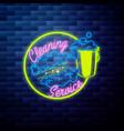 vintage cleaning service emblem vector image