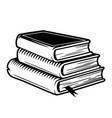 vintage stack books concept vector image