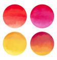 watercolor bright circle shape design elements vector image vector image