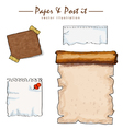 watercolor of paper collection sketch drawing vect vector image vector image