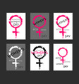 womens day cards templates vector image