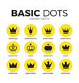 crown flat icons set vector image
