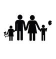 family black silhouette vector image