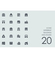 Set of different buildings and houses icons vector image
