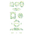 big set of eco style round and square frames vector image