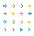 colorful arrows set Flat Design vector image