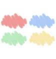 four designs of clouds in different colors vector image