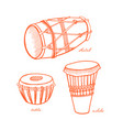 musical percussion instrument vector image