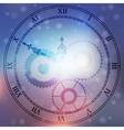 antique clock fac vector image