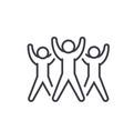 fitness group aerobics flat line vector image