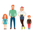 happy family in casual clothes vector image