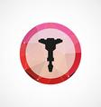jackhammer circle pink triangle background icon vector image