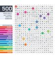 500 icons set vector image vector image
