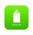 aerosol can icon green vector image vector image