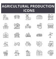 agricultural production line icons editable vector image vector image